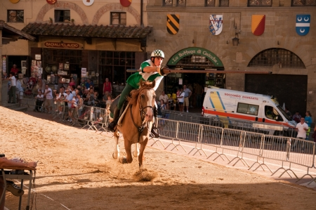 Horse riding in Saracen Joust in Arezzo, Italy