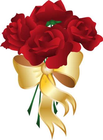 Illustration pour Bouquet Rose - image libre de droit