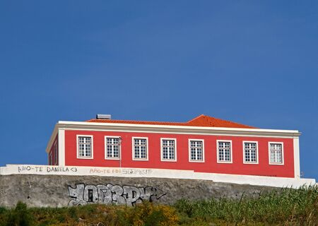 Red house in Sines