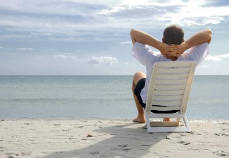 Photo pour Relaxing in the sea - image libre de droit