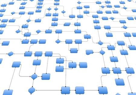 Photo pour Business flowchart - image libre de droit