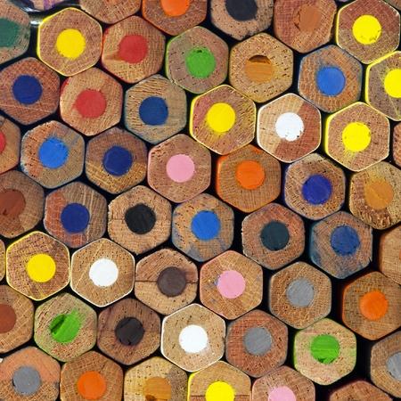 A wall of color pencils