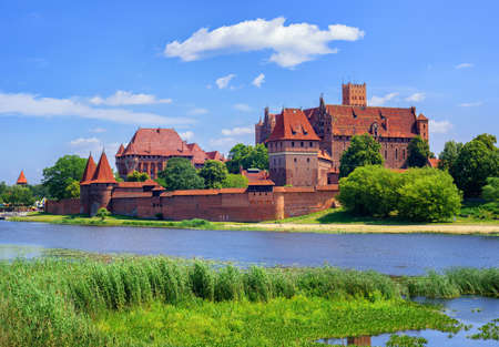 The Castle of the Teutonic Knights Order in Malbork, Poland, historical Prussia