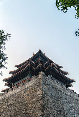 The imperial palace watchtower is one of the attractions palace, located in the Forbidden City even four corner.