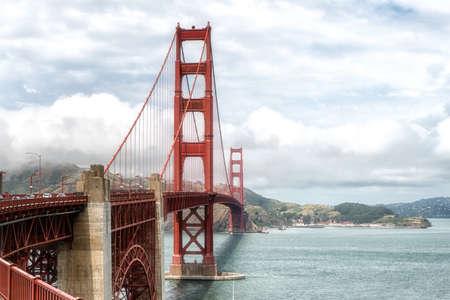 The Golden Gate Bridge in the Summertime in San Francisco, California USA