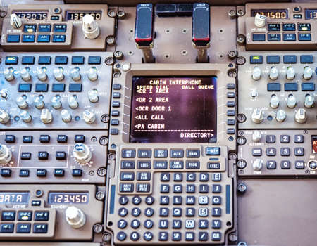 Airliner cockpit Communication Controls