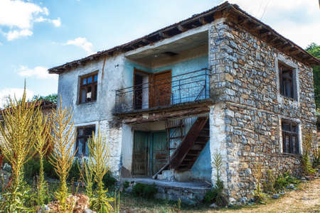 Ancient dilapidated house in Ohrid, Macedonia