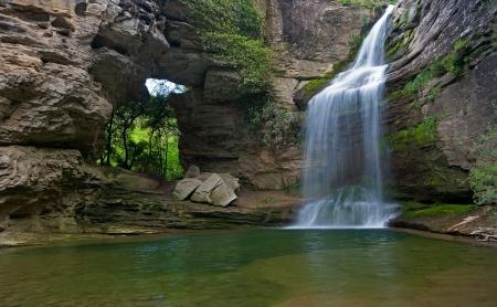 Beautiful waterfall in t he