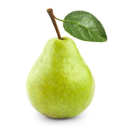Photo pour pear with leaf - image libre de droit