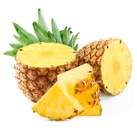 Illustration for Pineapple fruit vector illustration. Pineapple on white background - Royalty Free Image