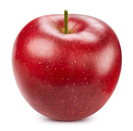Photo pour Red apple isolated on white - image libre de droit