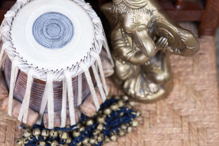 Tabla - Indian classical drums in an ornate, traditional setting.