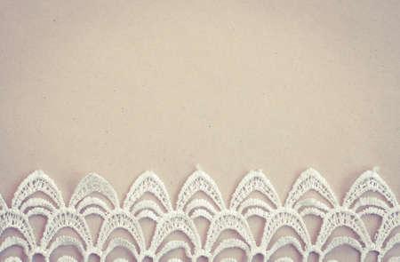 Photo pour Lace trim vintage background with copy space - image libre de droit