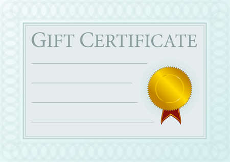 Blank Gift Certificate Document With Golden Seal