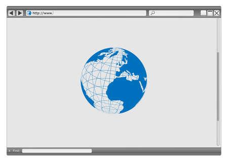 Blank Modern Internet Web Browser With Copyspace