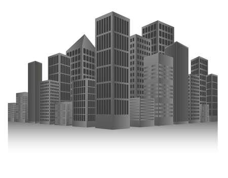 Grey Cityscape Background