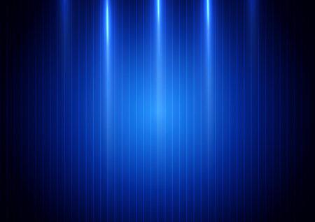 Illustration pour Abstract blue light vertical on blue background. Technology concept. Vector illustration - image libre de droit