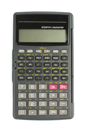 Scientific calculator isolated with clipping path