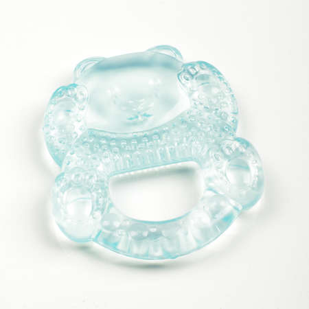 Cool water teether for babies gums isolated on white background