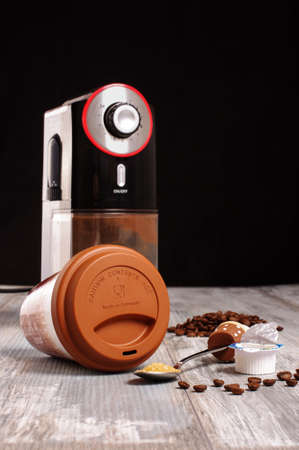 Coffee preparation equipment low angle