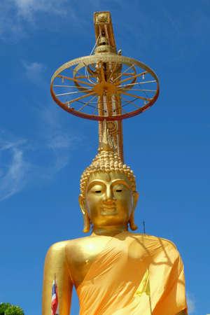 Golden buddha stature