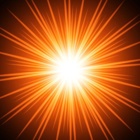 Abstract fiery sun. Vector background for you design, web design, desktop wallpaper or website.