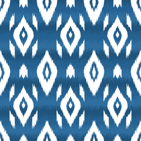 Illustration pour Modern ethnic seamless pattern in bohemian, hipster fashion style. Aztec, navajo, mexican seamless wallpaper. Ikat pattern for textile design, home decor, wrapping paper. Vector background. - image libre de droit