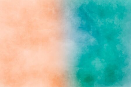 Photo pour Abstract modern painting . Dry brush painted paper , canvas , wall . Textured background in coral and blue tones. - image libre de droit