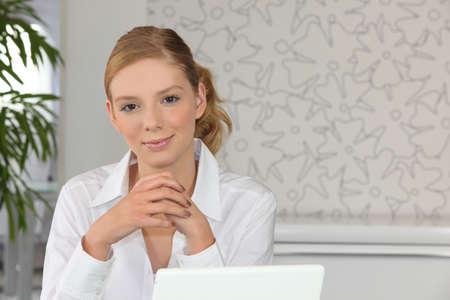 Portrait of a secretary at work
