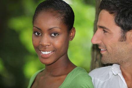 Man looking at his beautiful girlfriend