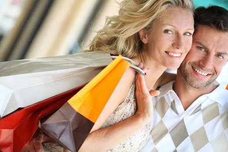 Loving couple shopping