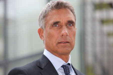 Closeup of a businessman in his fifties