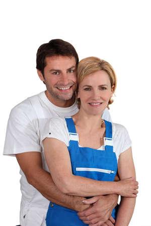 Photo pour A male and a female artisan - image libre de droit