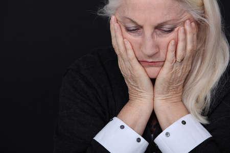 Foto für senior woman looking sad and lonely - Lizenzfreies Bild