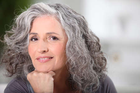 Photo for Portrait of beautiful senior woman - Royalty Free Image