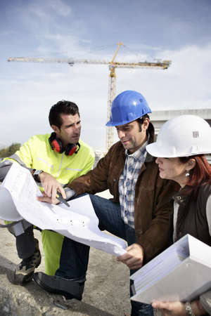 Photo for Team on construction site - Royalty Free Image
