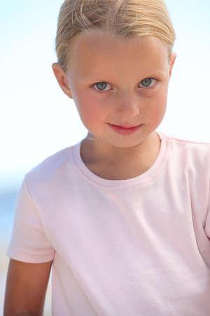 little girl with deep-blue eyes