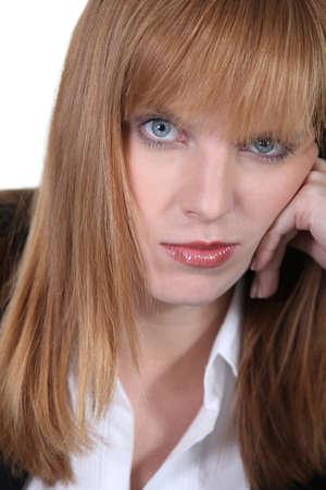 Portrait of a bored woman