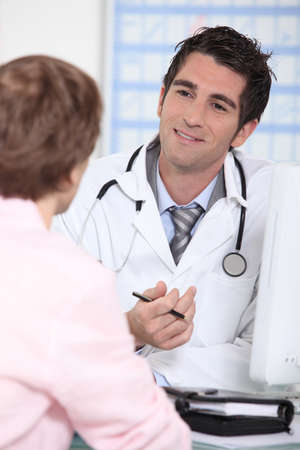 portrait of a doctor with patient