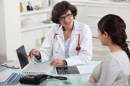 Doctor discussing a patient