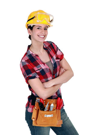 Photo for Female carpenter - Royalty Free Image