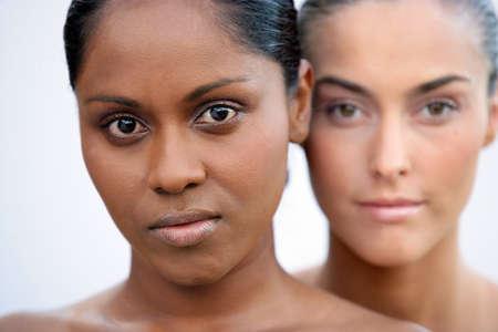 Beauty shot of two women
