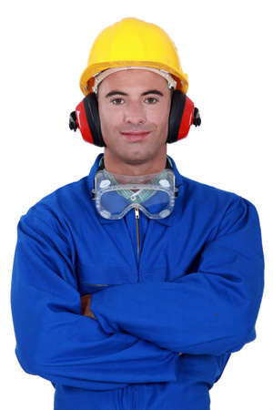 Portrait of a well-protected tradesman