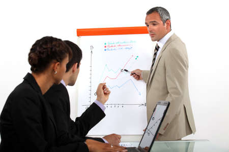 Man conducting business presentation