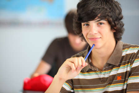 Photo for A teenage boy in the classroom - Royalty Free Image
