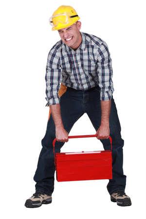 Craftsman lifting heavy tool box