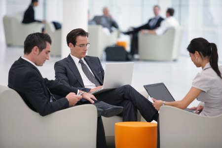 Business people waiting at the airport