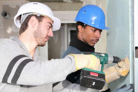 Man using a power tool