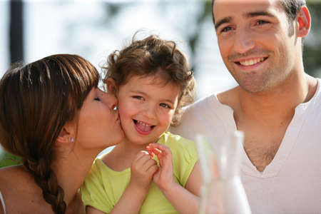 Portrait of a loving family