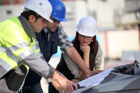Photo for Construction team on site - Royalty Free Image